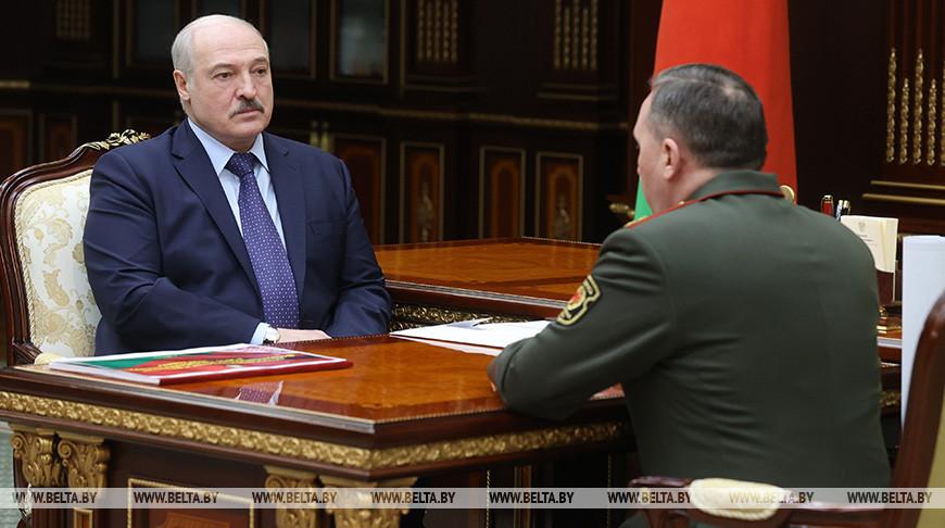 """Лукашенко обсудил с министром обороны замысел белорусско-российского учения """"Запад-2021"""""""