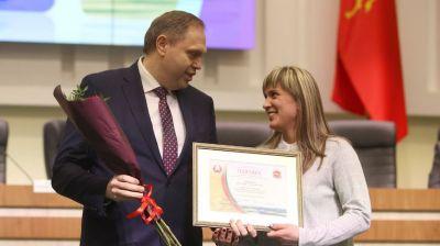 В Гродно чествововали спортсменов региона, отличившихся на международных соревнованиях