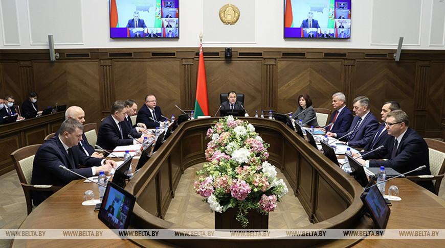 Состоялось заседание Президиума Совета Министров
