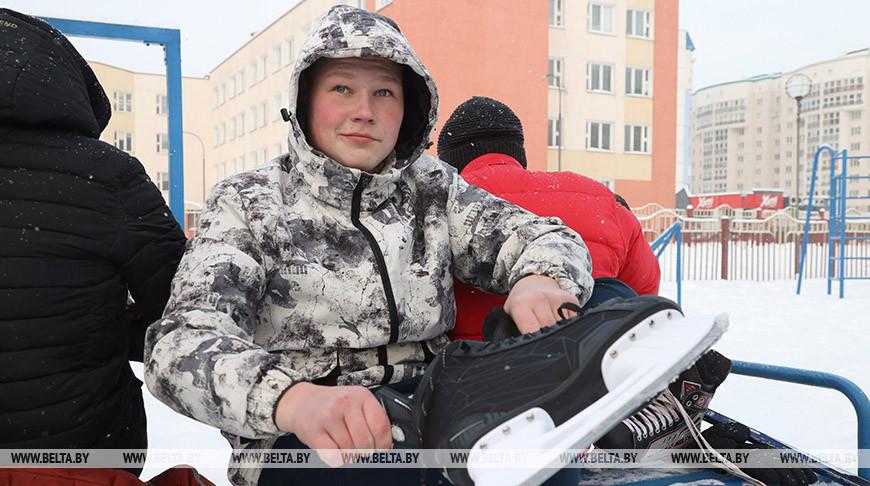 Могилевские школьники занимаются зимними видами спорта