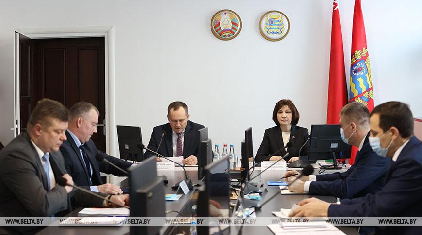 Кочанова приняла участие в заседании Пуховичского райисполкома