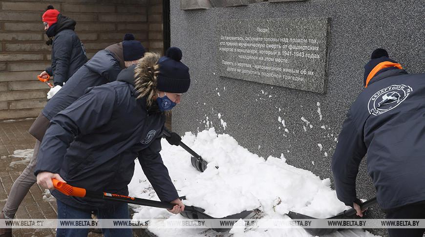 """Патриотический трудовой проект """"Зимний маршрут"""" стартовал в Могилеве"""