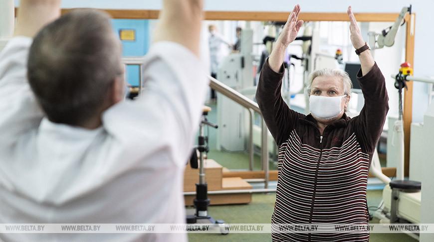 Реабилитация пациентов после COVID-19 проходит в клинической больнице в Аксаковщине