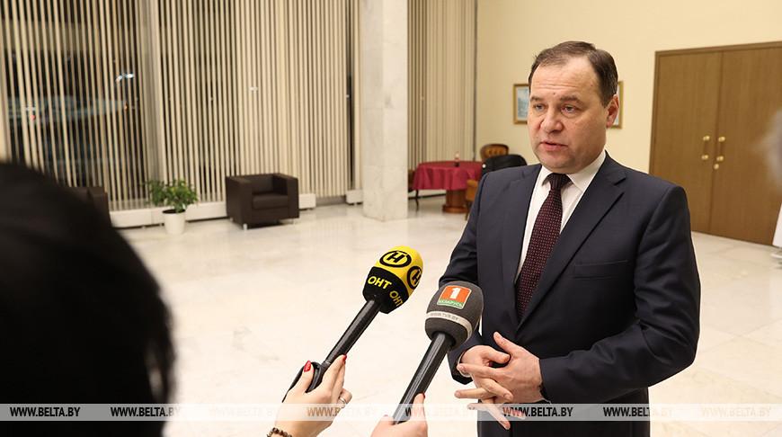 Головченко пообщался с журналистами по итогам переговоров с премьер-министром России