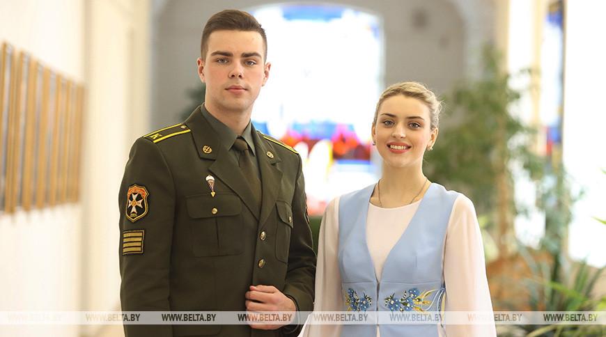 Максим Копать и Божена Еремич - делегаты VI Всебелорусского народного собрания