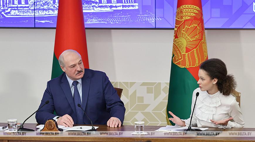 Лукашенко встретился со студенческой молодежью