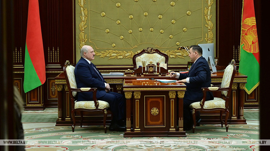 Лукашенко принял с докладом министра природных ресурсов и охраны окружающей среды