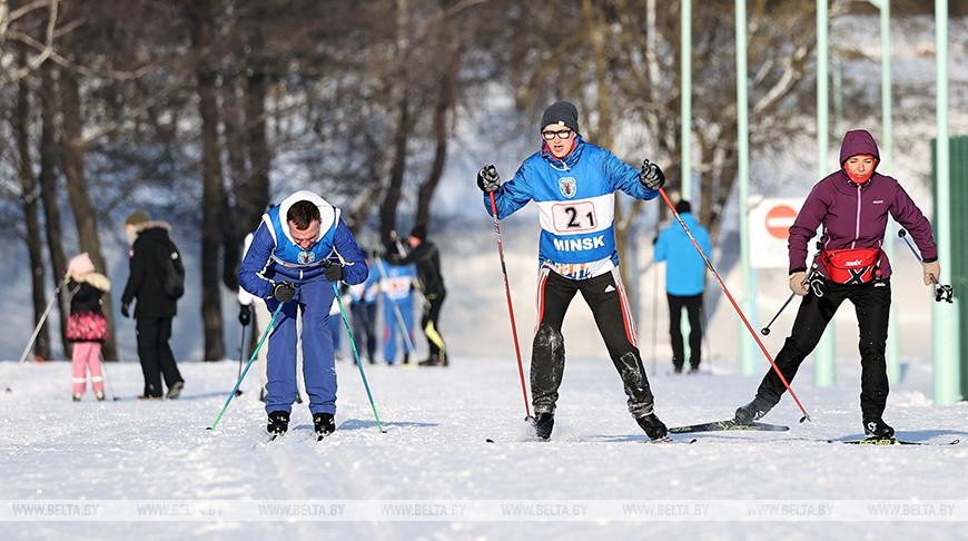 Команда Мингорисполкома победила в лыжной эстафете