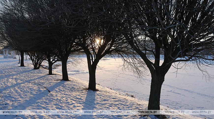 Морозное утро в Гомеле