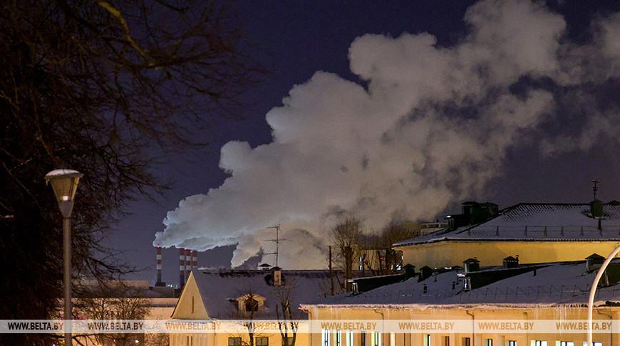 Морозный вечер в Минске