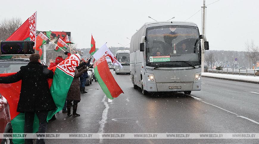 Делегаты ВНС прибыли в Минск