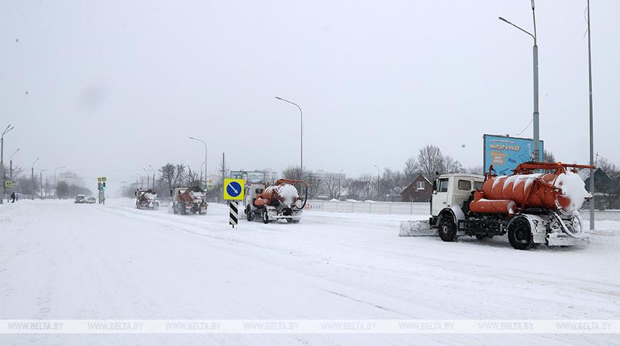 Сильный снегопад прошел в Могилевской области