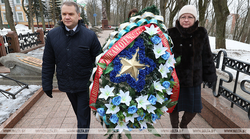 Акцию памяти провели участники автопробега в Витебске