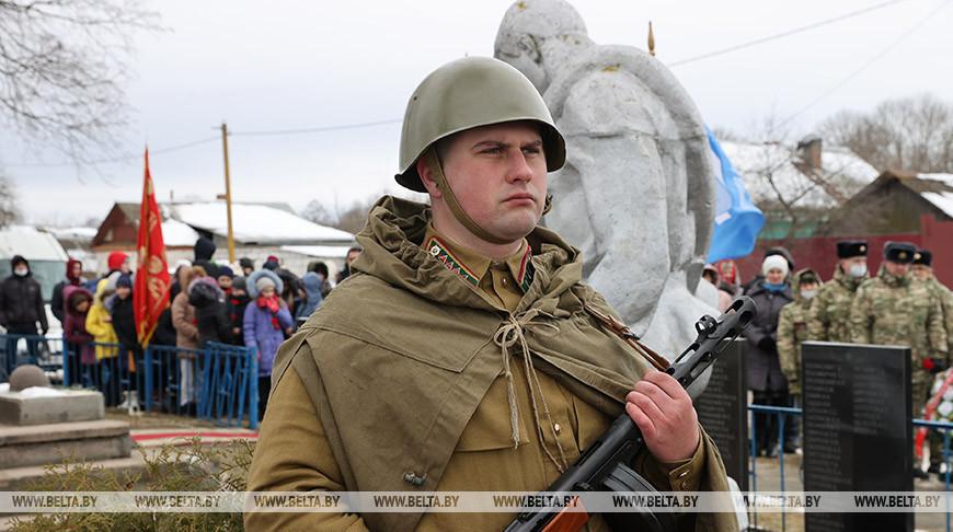 В Ветковском районе перезахоронили останки 21 советского солдата