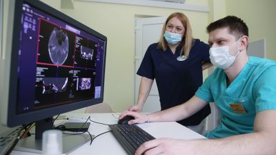Новый компьютерный томограф начал работу в Лидской ЦРБ