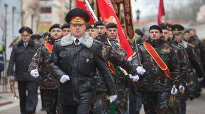 Гродненские милиционеры прошли маршем по центру города