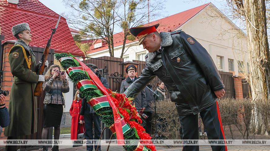 Митинг в честь годовщины белорусской милиции прошел в Бресте