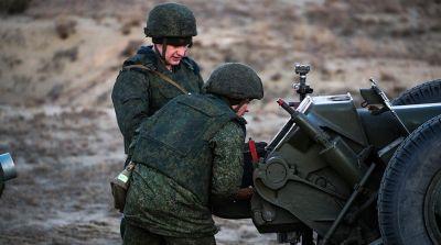 Артиллеристы десантно-штурмовой бригады отработали стрельбу прямой наводкой