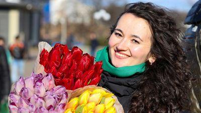Приближение праздника 8-го марта в Минске
