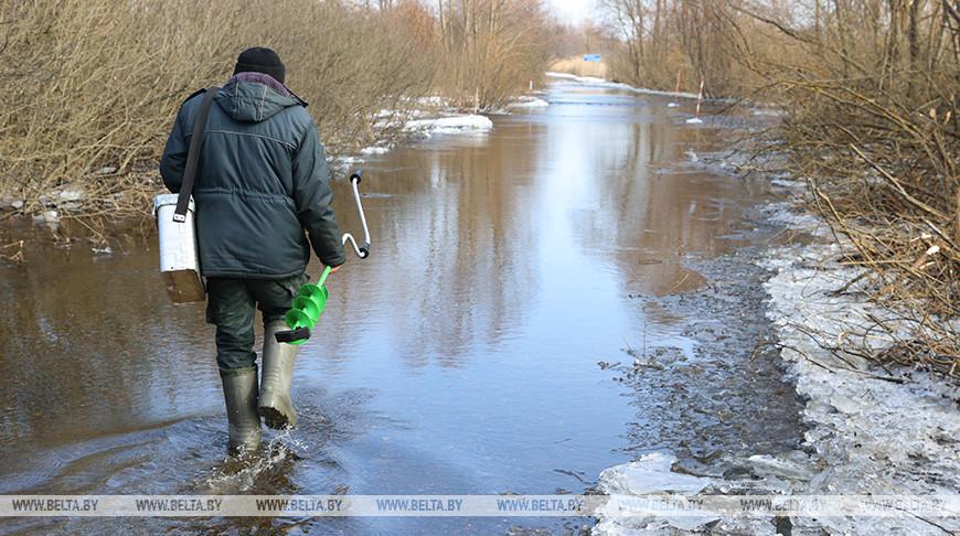 В Петриковском районе подтоплен участок автодороги Лучицы-Хвойня