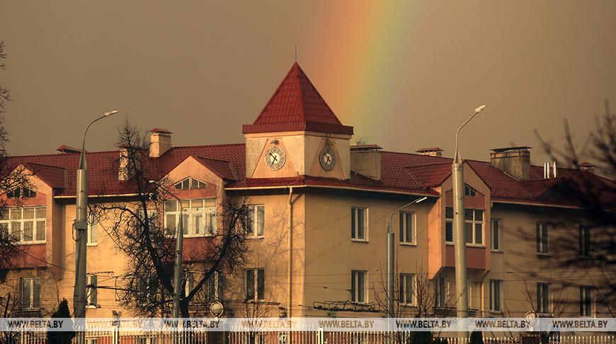 Первая весенняя радуга в Гродно