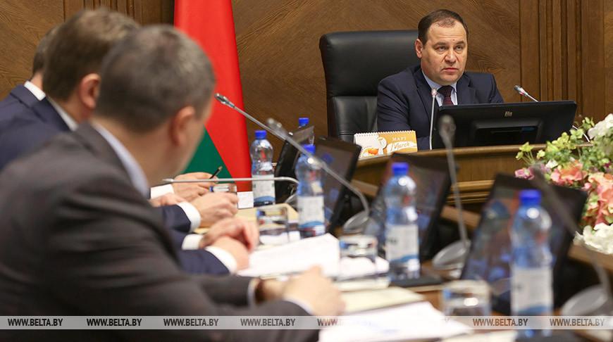 На заседании Президиума Совета Министров обсудили проведение весенней посевной кампании