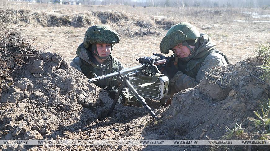 Белорусско-российское тактическое учение проходит на Осиповичском полигоне