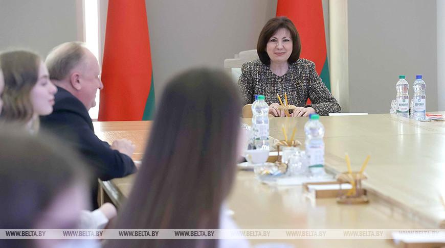 Кочанова встретилась с минскими школьниками