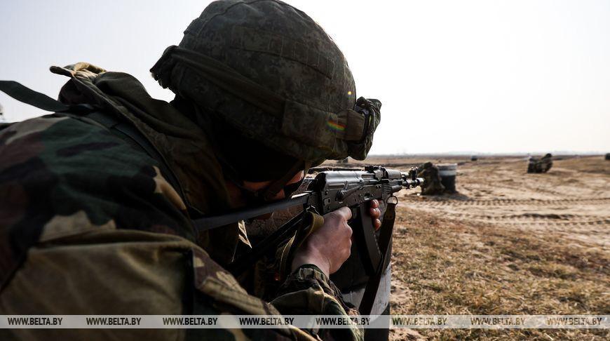 Занятия с участием военнослужащих запаса прошли на полигоне Брестский