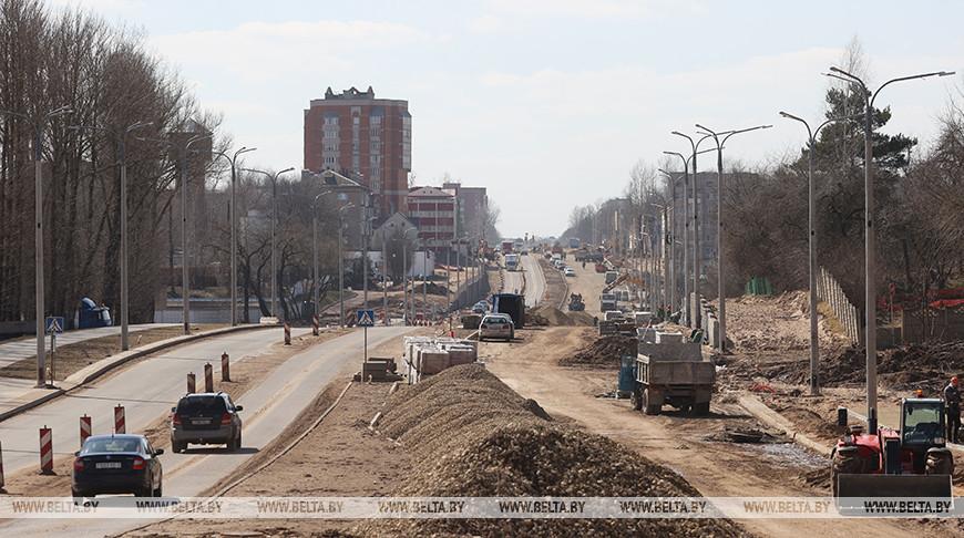 В Витебске продолжается реконструкция улицы Гагарина