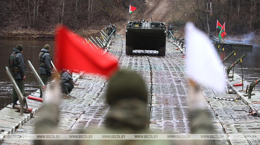 Совместные учения МЧС и военных прошли под Гродно