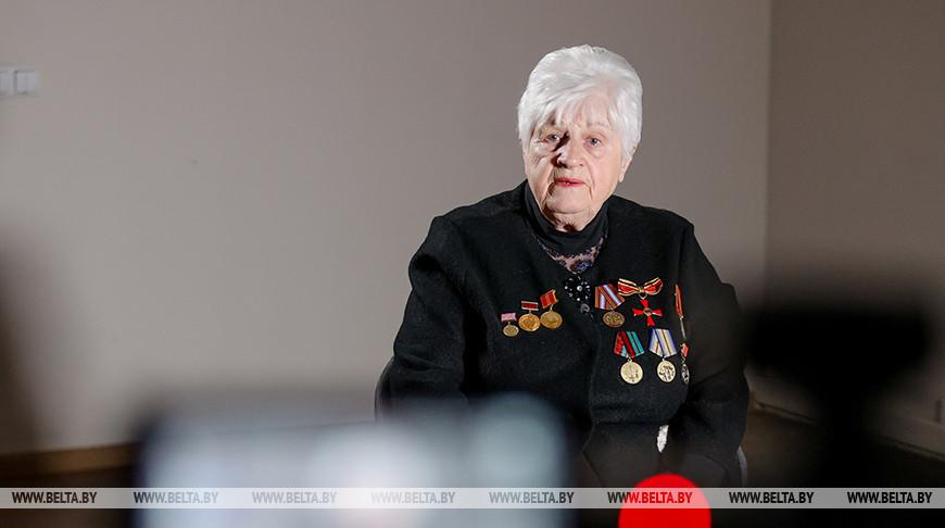 Бывшая узница Освенцима Александра Борисова
