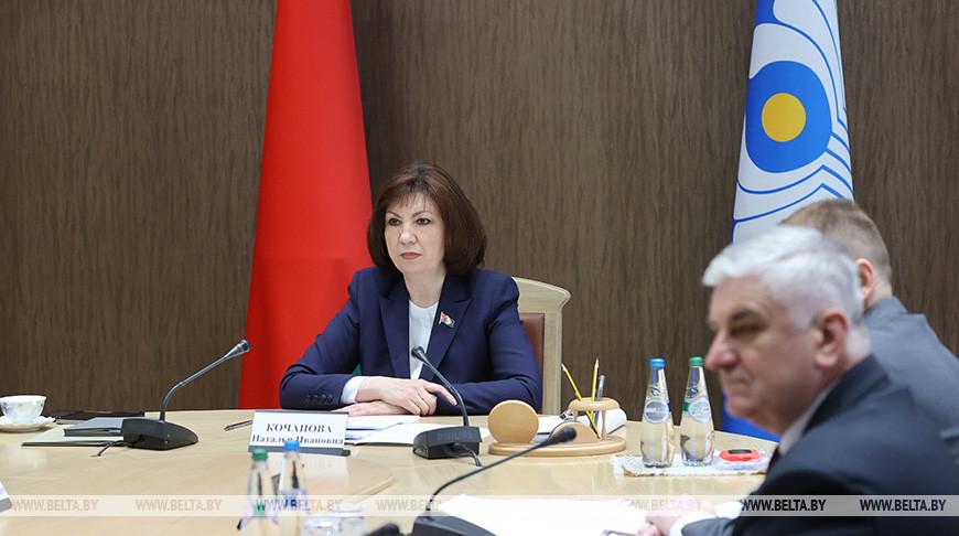 Кочанова приняла участие в пленарном заседании МПА СНГ