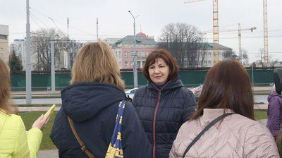 Кочанова приняла участие в закладке аллеи на площади Богушевича в Минске