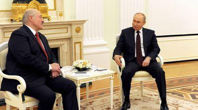Встреча Лукашенко и Путина в Москве