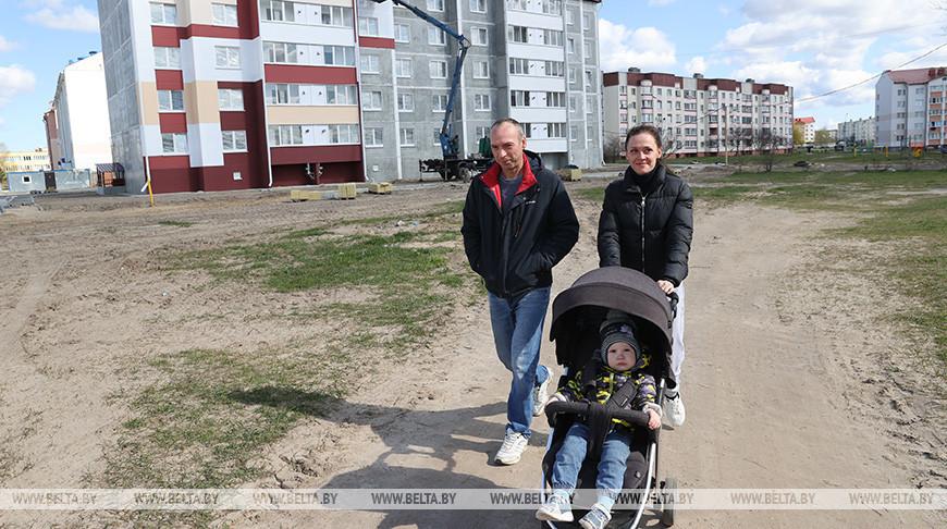 Дом для многодетных семей в Хойниках сдадут в эксплуатацию в мае