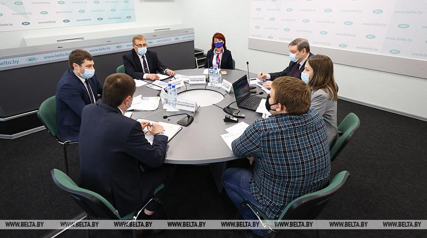 Работу транспортной отрасли в условиях пандемии обсудили в пресс-центре БЕЛТА