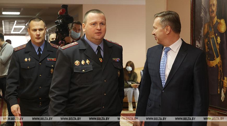 Кубраков в Гродно представил начальника УВД