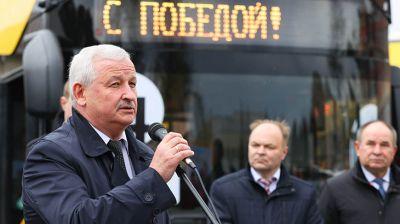 МАЗ передал Минску и областным центрам первые электробусы