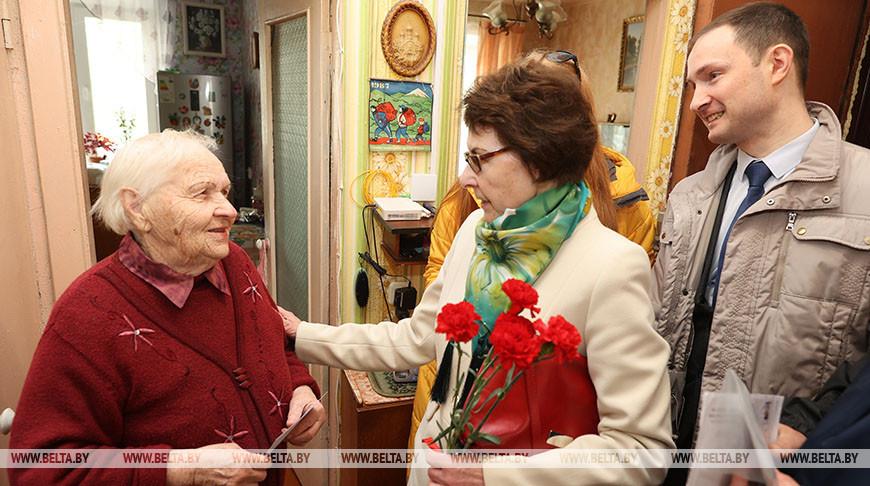 Ветеранов войны чествовали на дому в Витебске
