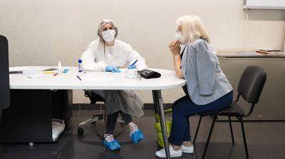 В минском торговом центре работает пункт вакцинации от COVID-19