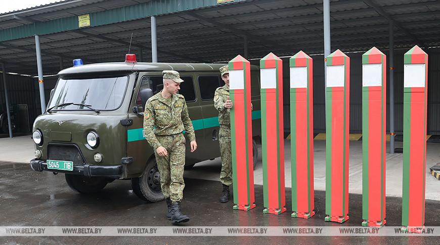 """Пограничники заставы """"Круговец-Калинино"""" несут службу по охране белорусско-украинской границы"""