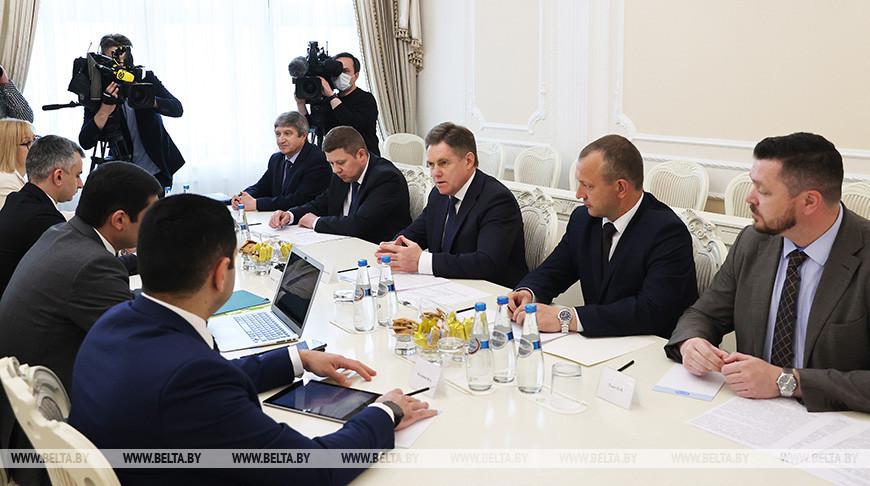 Петришенко встретился с членом Коллегии (министром) по внутренним рынкам, информатизации, информационно-коммуникационным технологиям ЕЭК