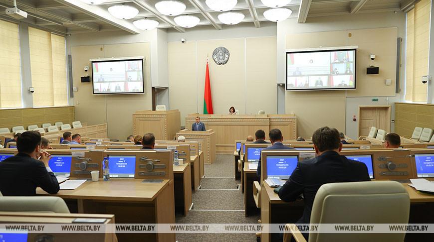 Совещание по подготовке VIII Форума регионов Беларуси и России прошло в Совете Республики
