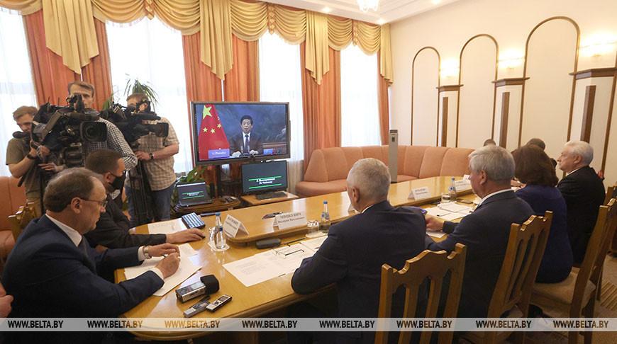 Кочанова и Андрейченко провели видеоконференцию с главой Постоянного комитета Всекитайского собрания народных представителей