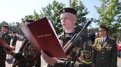Принятие военной присяги состоялось в 72-м гвардейском объединенном учебном центре