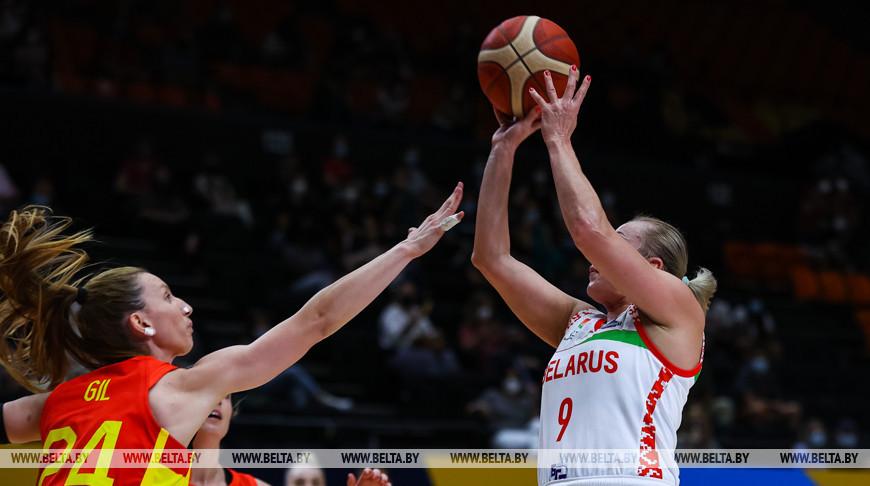 Белорусские баскетболистки победили испанок на чемпионате Европы