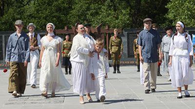 Памятная акция, посвященная 80-летию начала Великой Отечественной войны, прошла в Полоцке