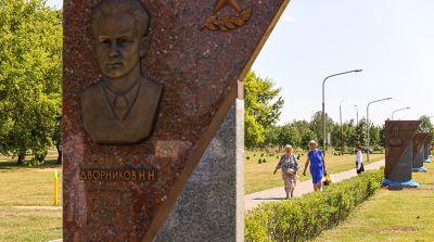 Обновленную аллею героев открыли вблизи Брестской крепости