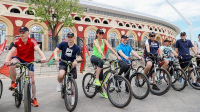 """Молодежный велопробег """"В единстве наша сила"""" прошел в Минске"""